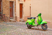 Green scooter — Stock Photo