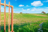 Gate in the country — Foto de Stock