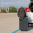 Baggages and trunk — Stock Photo