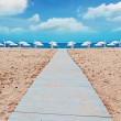 Stock Photo: Symmetrical beach