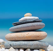 Stone pile and pebbles — Stock Photo