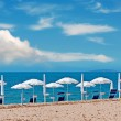 Parasols row — Stock Photo