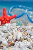 Weißen kieselsteinen — Stockfoto