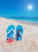 Flip-flops and sun — Stock Photo