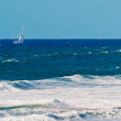 Sailinig in rough sea — Stock Photo #27861641
