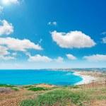 Blue sky in San Giovanni beach — Stock Photo #29329119