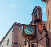 Church with clock — Stock Photo
