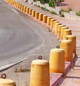 Cement pylons — Stock Photo