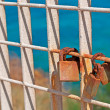 Stock Photo: Rusty padlocks