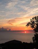Sunset door de kust — Stockfoto