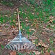 Rake on the ground — Stock Photo