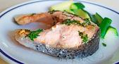 Salmon and zucchini — Stock Photo