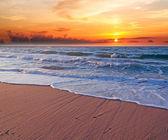 Sunset in Platamona — Stock Photo