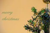 Merry christmas with tree — Stock Photo