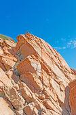 Rocce arancioni e blu cielo — Foto Stock