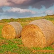 Bales and clouds — Stock Photo