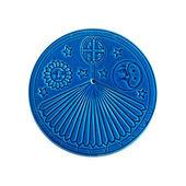 Blue sundial on white — Stock Photo
