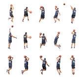 Fifteen players — Stock Photo