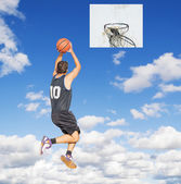 Shooting in the sky — Stock Photo