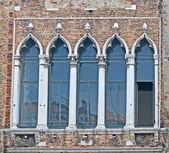 Antique windows in Venice — Stock Photo
