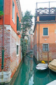 Boats in a Venice canal — Stock Photo