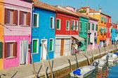 Casas de burano — Foto Stock