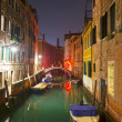 Canal by night — Stock Photo
