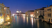 Canal Grande at night — Stock Photo