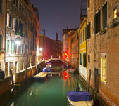 Canal by night — Stockfoto
