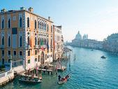 Gondola by Franchetti Palace — Zdjęcie stockowe