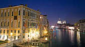 Grand Canal at night — Stock Photo