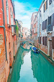 Narrow Venice canal — Stock Photo