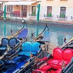 Three gondolas — Stock Photo