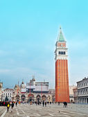 San marco bell tower — Stock Photo