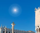 Sun over San Marco square — Stock Photo