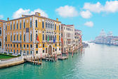 Venice Grand Canal under a clear sky — Stock Photo