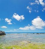 Blue sky over Is Arutas — Foto de Stock
