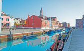 Burano canal — Stock Photo