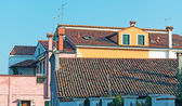Burano roofs at dusk — Stock Photo
