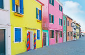 Burano sidewalk — Stock Photo