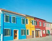 Colorful houses and blue sky — Zdjęcie stockowe