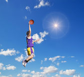Dunk in the sky with sun — Stock Photo