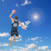 Dunk in the sun — Stock Photo