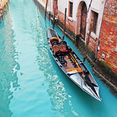 Gondola in a canal — Foto Stock