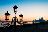 Lamppost at dusk — Stock Photo