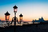 Lamppost at dusk — Foto Stock