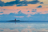 Lighthouse at dusk — Stock Photo