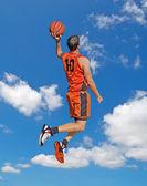 Orange dunk in the sky — Stock Photo