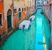 Barche in un canale — Foto Stock