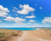 Nubes en la costa — Foto de Stock